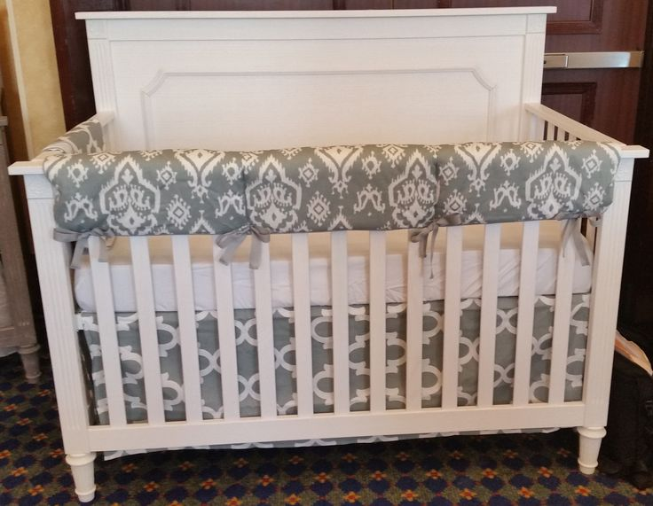 Distressed White Crib. Perfect For A Chic, Rustic Nursery. The Squared  Edges Give