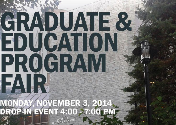 Graduate & Education Program Fair, Nov 3 MSVU