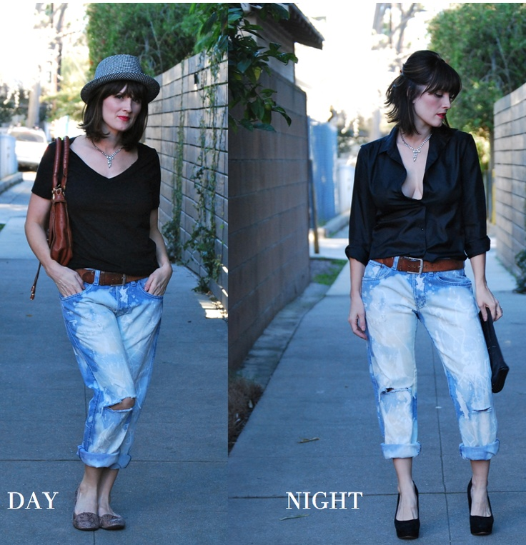 Tanya Dempsey from November Grey: Day to Night using casual jeans.