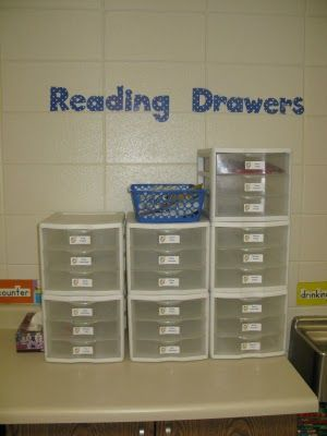Student Book Drawers instead of Book Boxes... What a GREAT idea!  This will totally save space in my teeny tiny classroom!!!