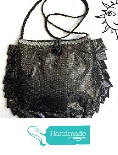 BORSE SOLE LUNA - piccola borsa nera con volant - pezzo unico fatto a mano da Soleluna handmade creations https://www.amazon.it/dp/B071F6JK9P/ref=hnd_sw_r_pi_dp_SVihzb45F8HT8 #handmadeatamazon