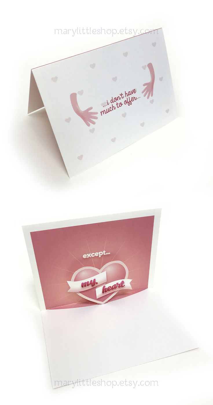 Cute love popup card for your partner!