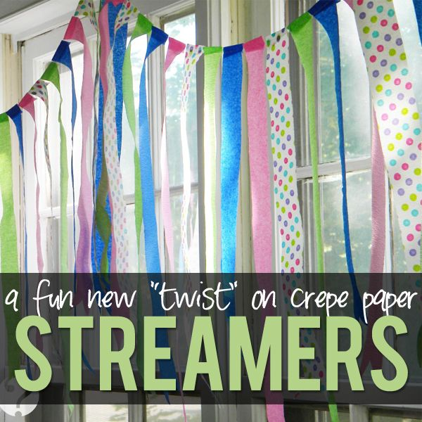 A Fun New Twist on Crepe Paper Streamers!! It literally takes minutes to do and it makes such a statement! #party #decor #streamers from howdoesshe.com