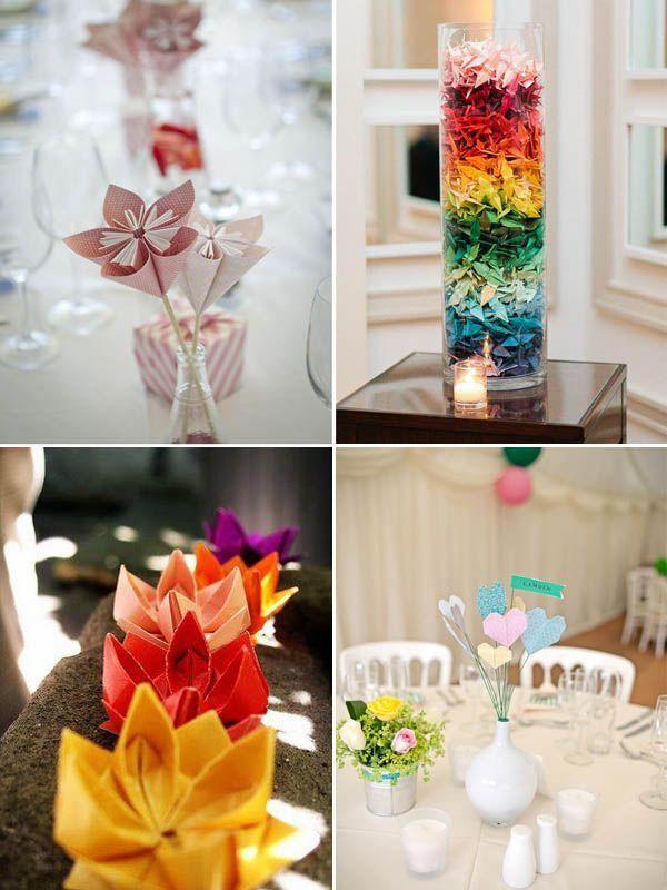 Wedding centerpiece, origami crane, kusudama flowers, paper ...   800x600