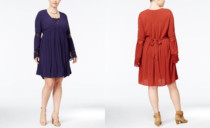 American Rag Trendy Plus Size Babydoll Peasant Dress, Only at Macy's - Trendy Plus Sizes - Plus Sizes - Macy's
