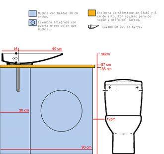 M s de 1000 ideas sobre dise o de un apartamento peque o for Instalar lavadora en bano