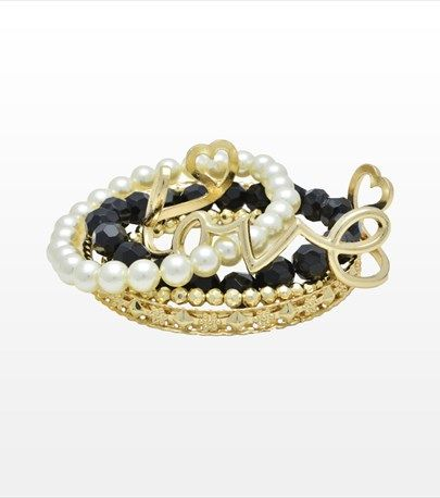 #DYNHOLIDAY Add some fun to your look with this love bracelet set! It features 5 gorgeous bracelets.