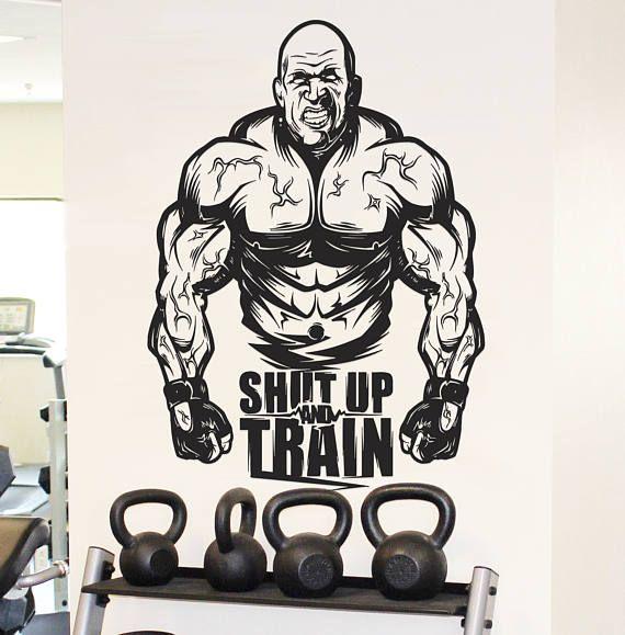 Best street workout wall decals crossfit decor
