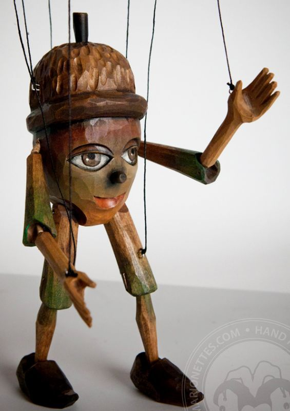 Chiff Chaff - wawing wooden marionette