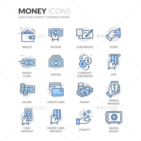 Line Money Icons Vector EPS. Download here: https://graphicriver.net/item/line-money-icons/17683764?ref=ksioks