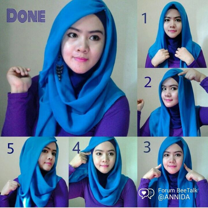 Tutorial Hijab Segi Empat Simple Tapi Cantik