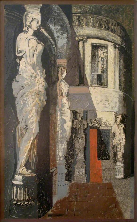 John Piper - Cheltenham, Montpellier Walk, 1949, Oil on canvas, 197.5 x 123 cm, Government Art Collection.