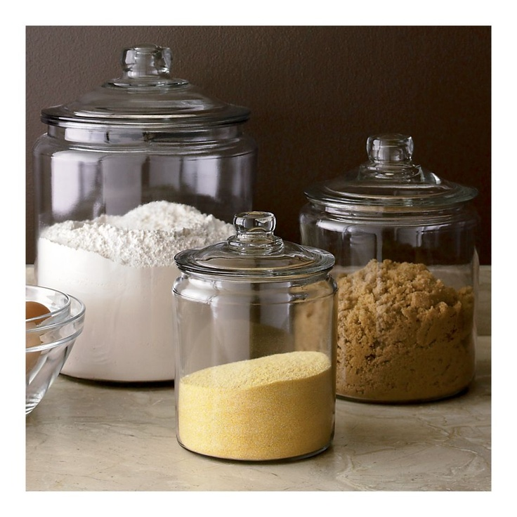 Awesome Flour, Sugar, Coffee Heritage Hill Glass Jars With Lids, Crate And Barrel Design Inspirations
