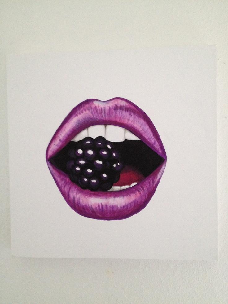 Purple mouth