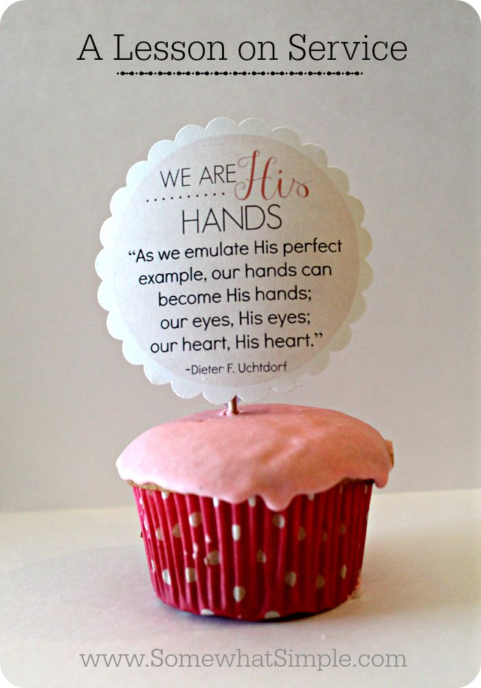 We are His Hands - a lesson on service. LOVE this idea + message so much!