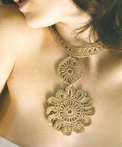 hermoso Collar tejido a crochet accesorios tejidos a ganchillo OjoconelArte.cl |