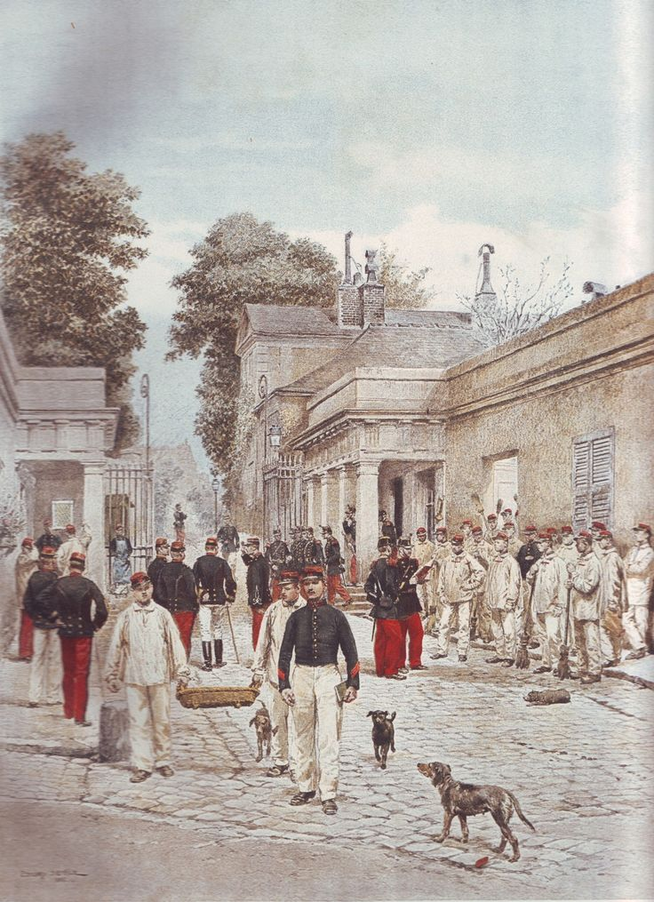 French Army 1900 Infantry Barracks by Édouard Detaille