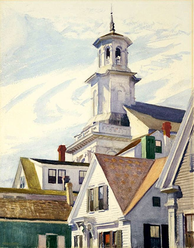 bofransson: Methodist Church Tower (1930) – Edward Hopper