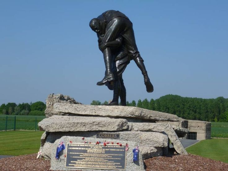 WWI memorial in Fromelles, France dedicated to the Australian soldiers who died there.: Battlefield, Australian War Memories, World War I, France Dedication, Strike Statues, Wwi Memories, Australian Soldiers, Cobber Statues, Statues Commemor
