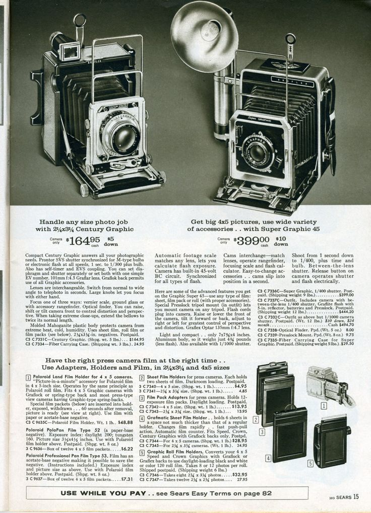 15: Super Graphics, Graphics 45, Century Graphics, Photo, Cameras