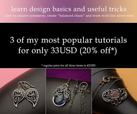 Get best 3 tutorials on wire-wrapping design basics by Iza Malczyk with 20% discount