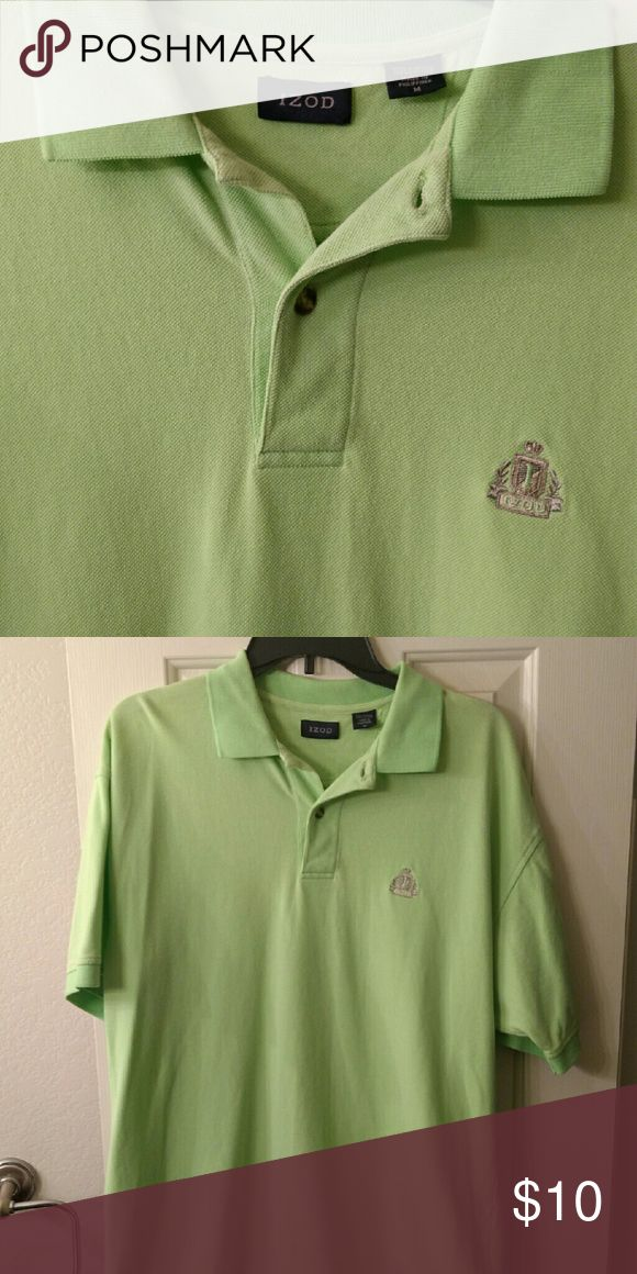 Men's pullover lime green short sleeve Men's short sleeve lime green pullover excellent condition Izod Shirts Polos