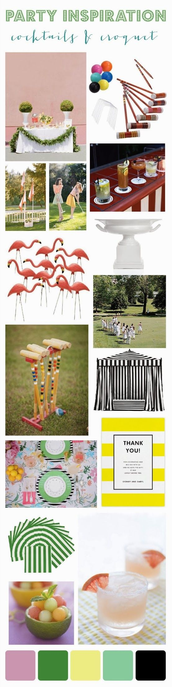 {party inspiration: cocktails & croquet}
