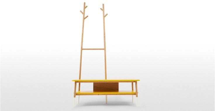 Twig Bench, Yellow and Oak | made.com