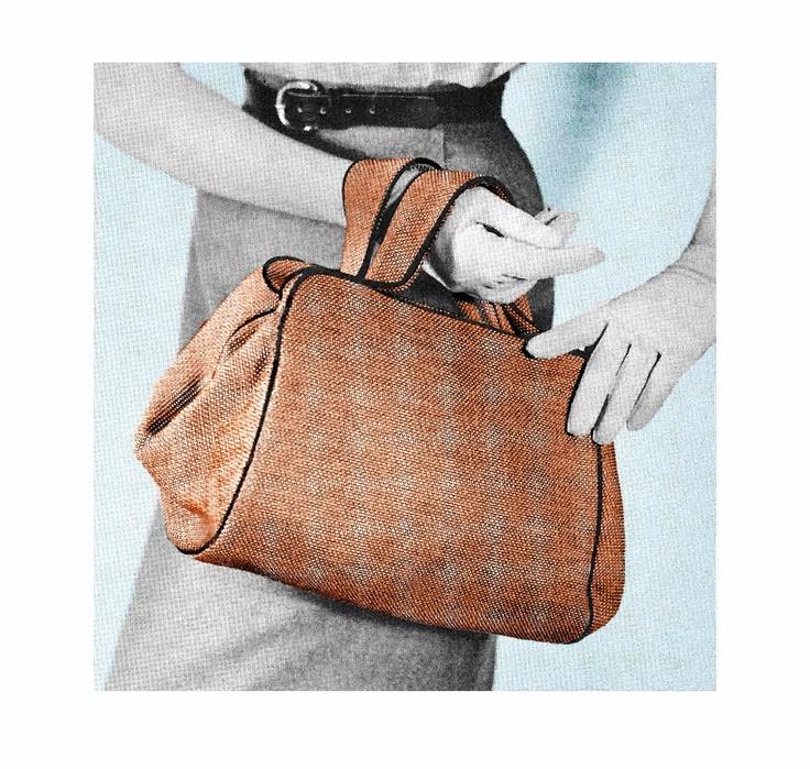 Vintage 1950s Custom Purse Doctor Bag Satchel Handbag DIY Sewing Pattern PDF Treasury Item