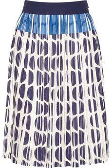 Diane von Furstenberg Sinopa pleated chiffon skirt