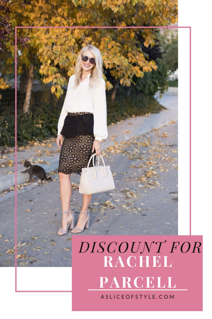 Click for an exclusive discount for Rachel Parcell making this skirt only $38.25, originally $165! Peplum skirt | Discount code | Rachel Parcell | Skirt outfit | Black skirt | Fall fashion