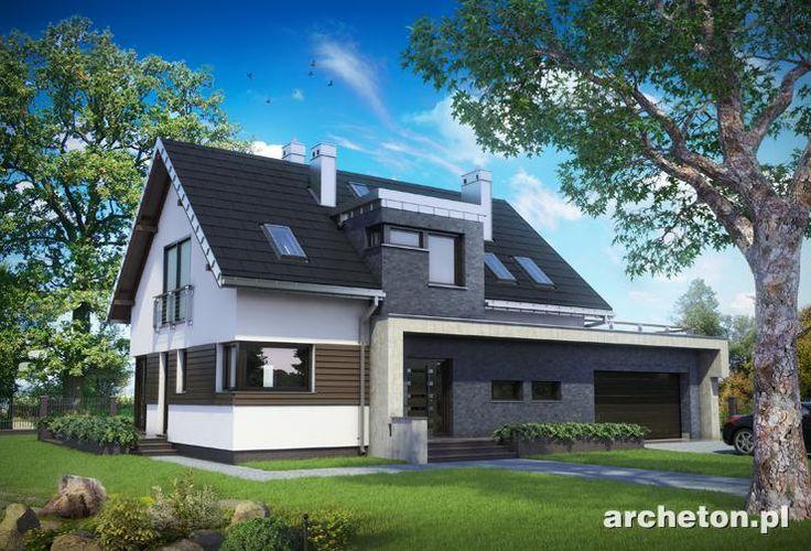 Projekt domu Klara Polo to funkcjonalny dom, w nowoczesnym stylu, z przestronnym salonem
