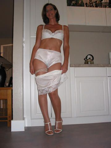Mature nylon slips what