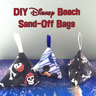 """Easy DIY """"sand-off"""" bags- Uses talc to easily get sand off of your skin - Perfect for the beach"""