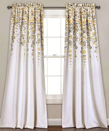 Look what I found on #zulily! Yellow & Gray Room-Darkening Curtain Panel - Set of Two #zulilyfinds