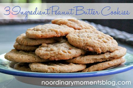 Three ingredient peanut butter cookies ~ 15 minutes from start til they are melting in your mouth!