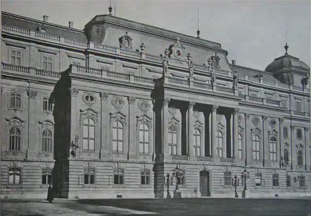 Budavári Palota - Trónterem homlokzata
