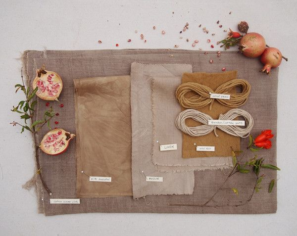 Folk Fibers Blog, Natural fibers dyed with pomegranates harvested in Austin, Texas.
