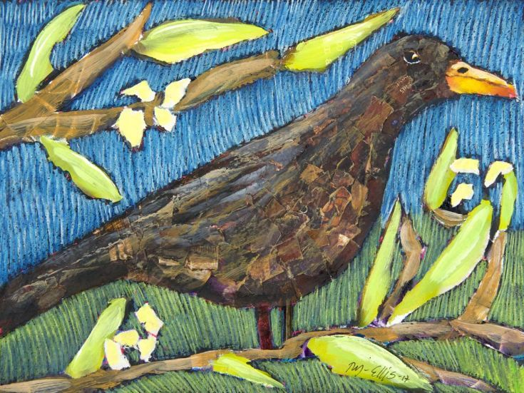 Buy Blackbird, torn paper collage, Collage by Mariann Johansen-Ellis on Artfinder. Discover thousands of other original paintings, prints, sculptures and photography from independent artists.