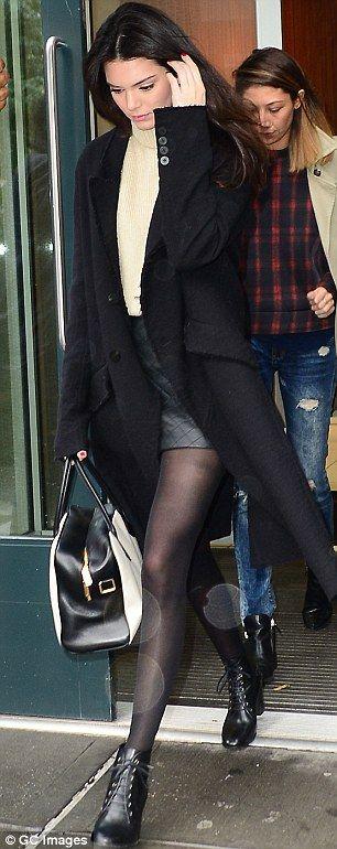 Many happy returns: Kim Kardashian (left) leads the tributes for half-sister Kendall Jenne...
