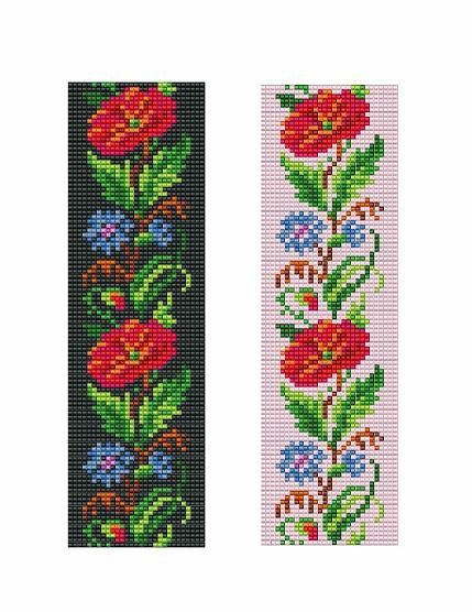 Bead Loom Floral Border 4 Bracelet Pattern PDF by MyTreasureIsland