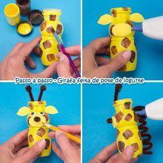 Pra Gente Miúda: Atividades para educação infantil - Animais com reciclagem de potinhos