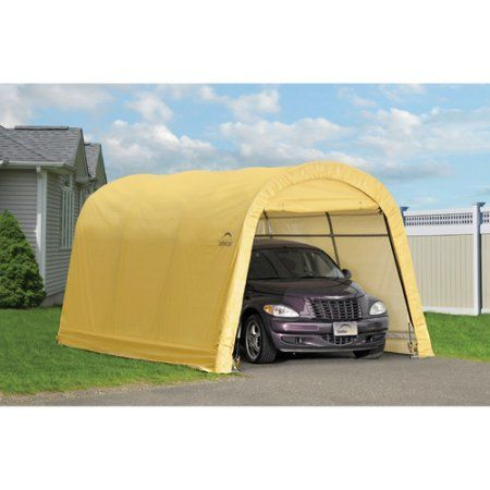 Auto Shelter 10' x 15' x 8' RoundTop Instant Garage, Sandstone, Brown