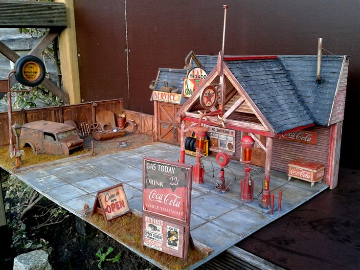 91 best images about mini gas station on pinterest model for Scale model ideas