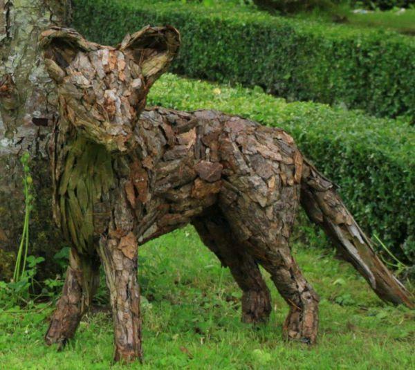 Wood Metal Bark Sculpture By Sculptor Tessa Hayward