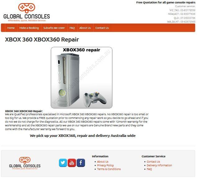 XBOX360 repair center