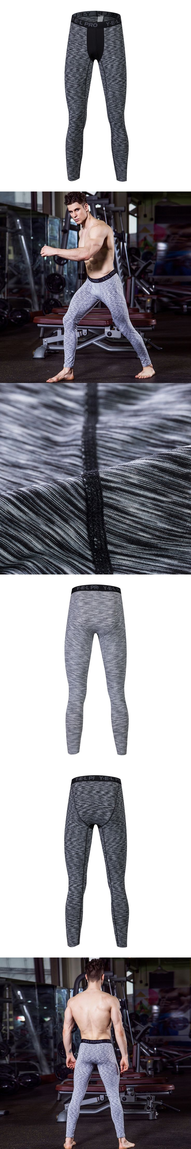 2017 Logo Custom Men Compression Pants Fitness Tights Suit Workout Leggings Quickly Dry Trousers fashion White Pant