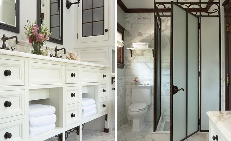 nice: Irons, Bathroom Inspiration, Bathroom No, Cabinets Configur, Bathroom Vanities, Frames Shower, Cabinet Doors, Clean White, Cabinets Doors