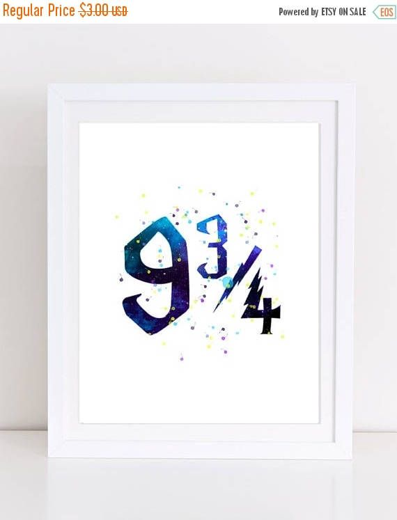 60%OFF harry potter art 9 and 3/4 platform 9 and 3/4 sign