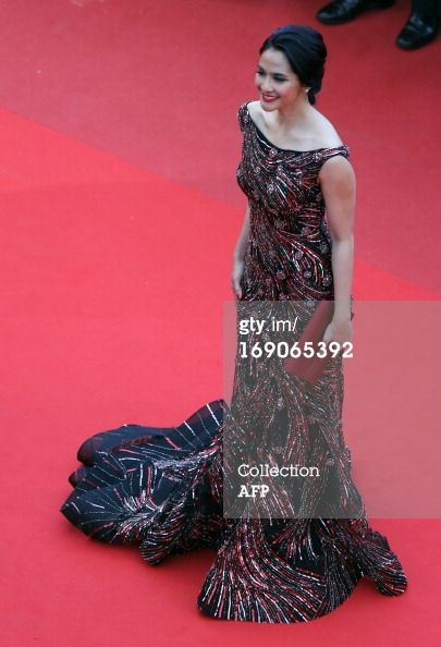 """Maudy Koesnadi is an Indonesian star who made a glamorous appearance at the Cannes International Film Festival for the premiere of """"Inside Llewyn Davis"""" on 19 May 2013. She was there is her capacity as a brand ambassador for L'Oréal Paris, the beauty brand giant that sponsors the festival."""